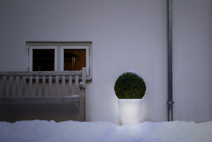 Havekrukke med LED Ø38 x H40 cm