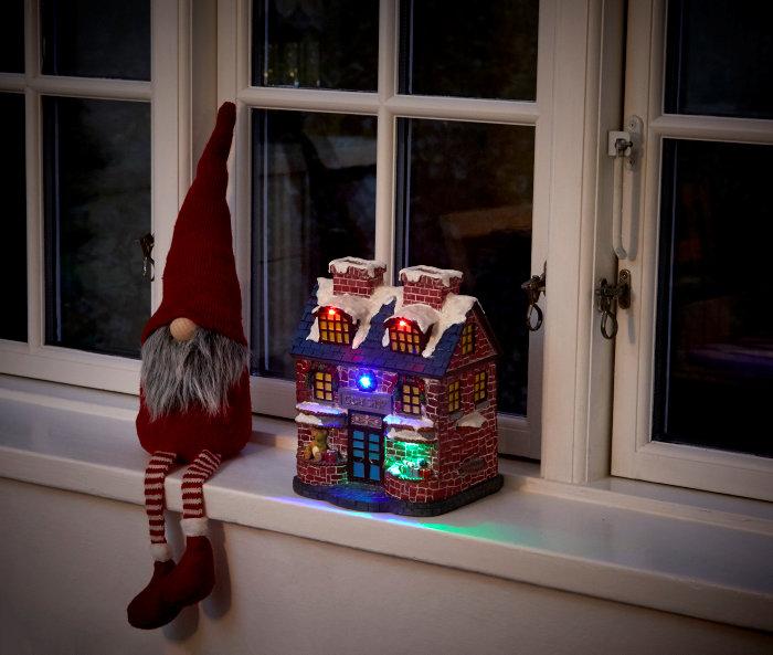 Julehus med multifarvet LED