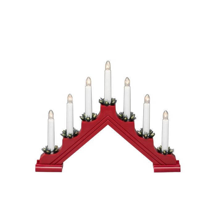 Adventsljusstake 7 ljus Röd