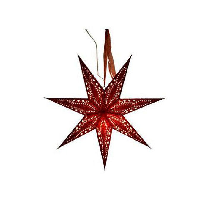 Adventsstjärna Vinröd 60 cm