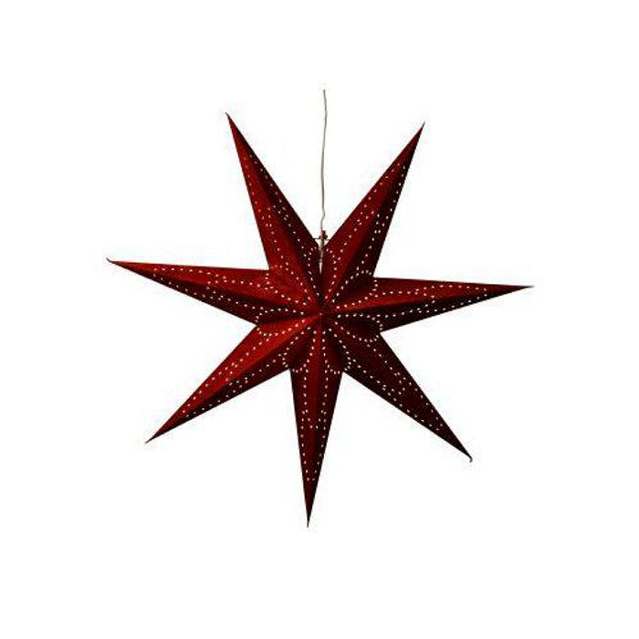 Adventsstjärna Vinröd 75 cm