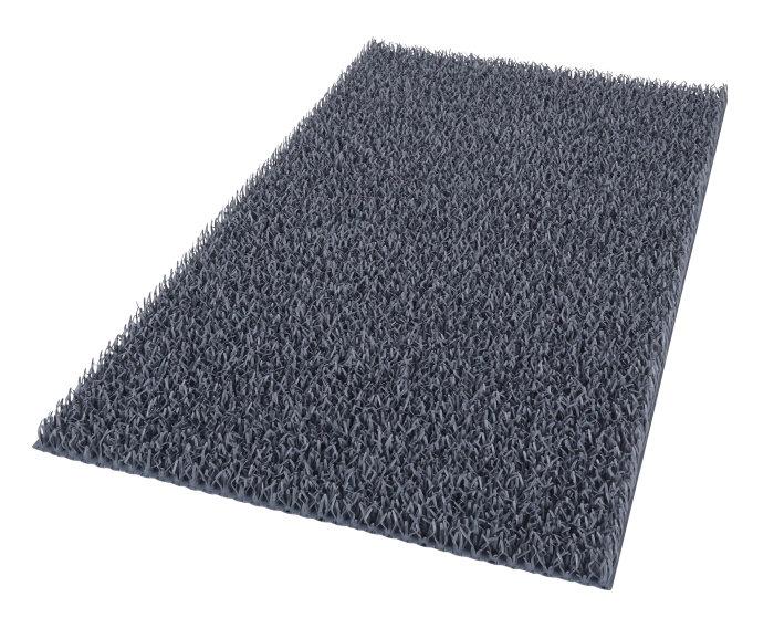 Dørmåtte 40 x 60 cm grå - Astro Turf