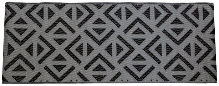 Plasttæppe 70 x 180 cm – grå med sort mønster