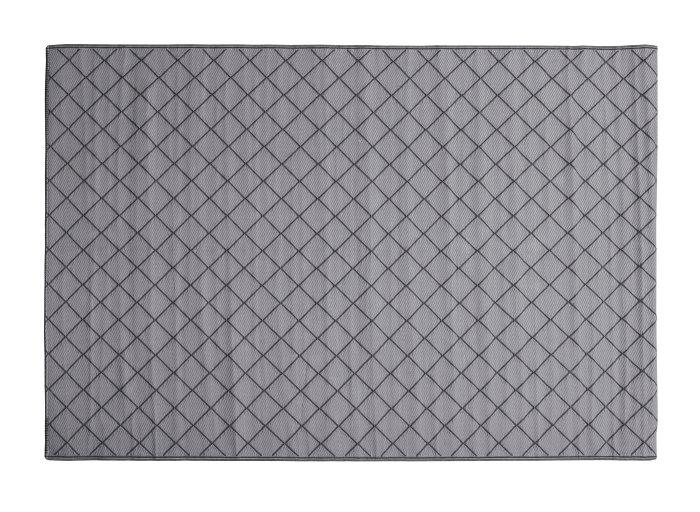 Plasttæppe grå/sort små firkanter 180 x 265 cm
