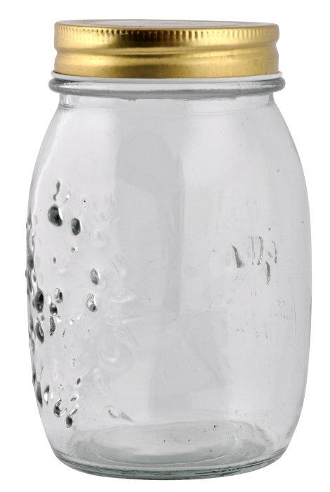 Syltetøyglass med skrulokk 0,5 liter