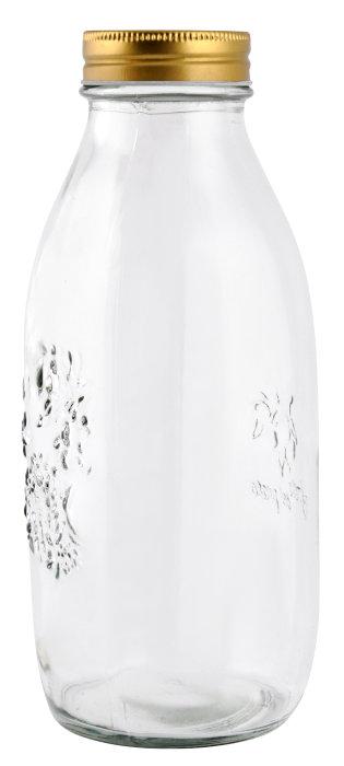 Saftflaske med skruelåg 1 liter