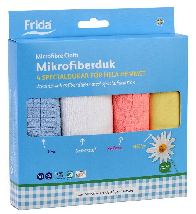 Mikrofiberduk 4 pack Frida