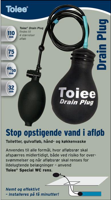 Toiee Drain Plug 110 mm til afspærring af afløb