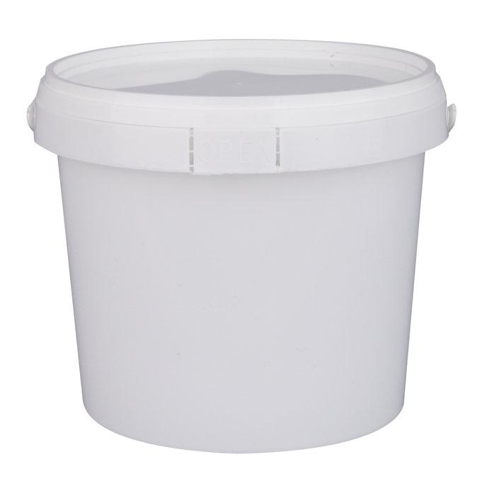 Plastikspand med låg 1 liter