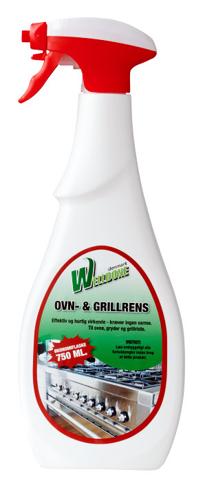 Welldone ovn og grillrens 750 ml