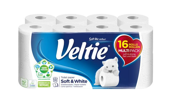Toiletpapir Veltie 16 ruller