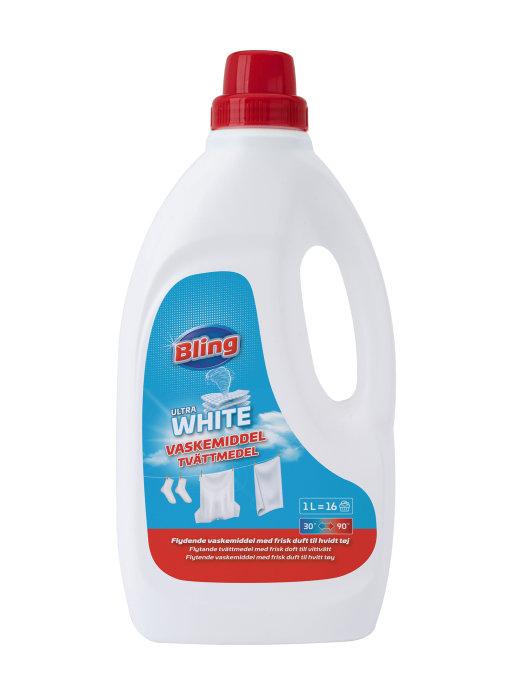 Vaskemiddel flytende for hvit vask 1 liter - Bling
