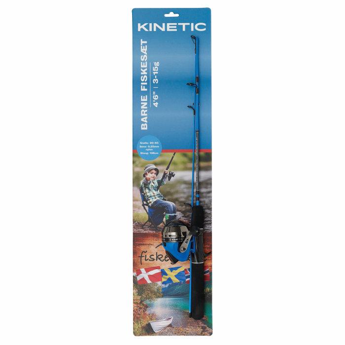 Børnefiskesæt 138 cm blå - Kinetic