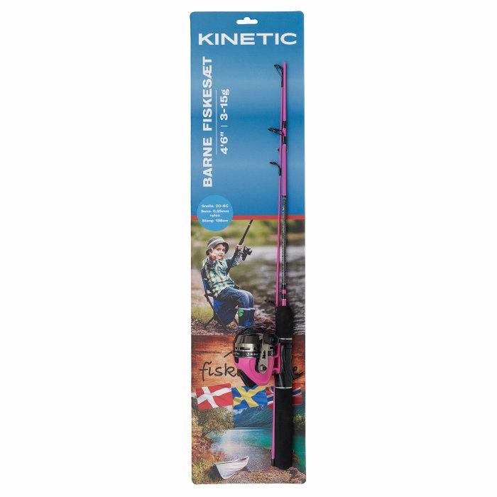 Børnefiskesæt 138 cm pink - Kinetic