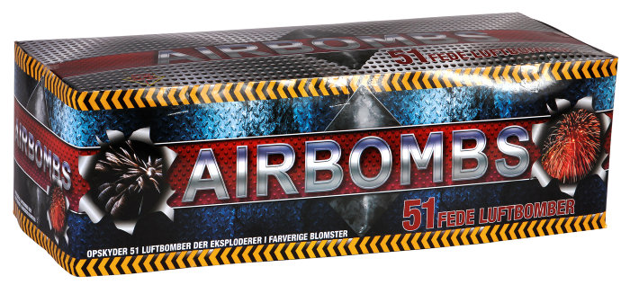 Airbombs batteri - 51 skud