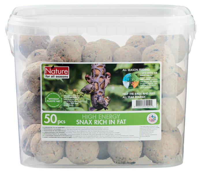 Mejsebolde fuglefoder - 50 stk.