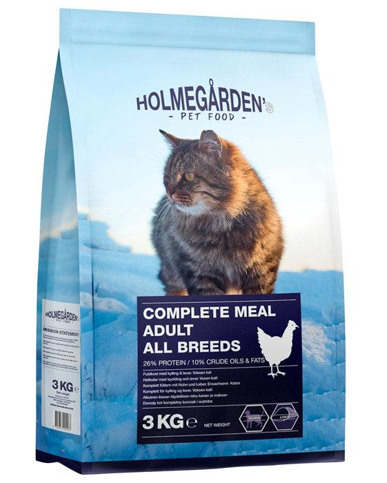 Holmegårdens kattefoder kylling og lever 3 kg