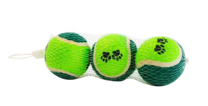 Hundelegetøj - tennisbolde i net