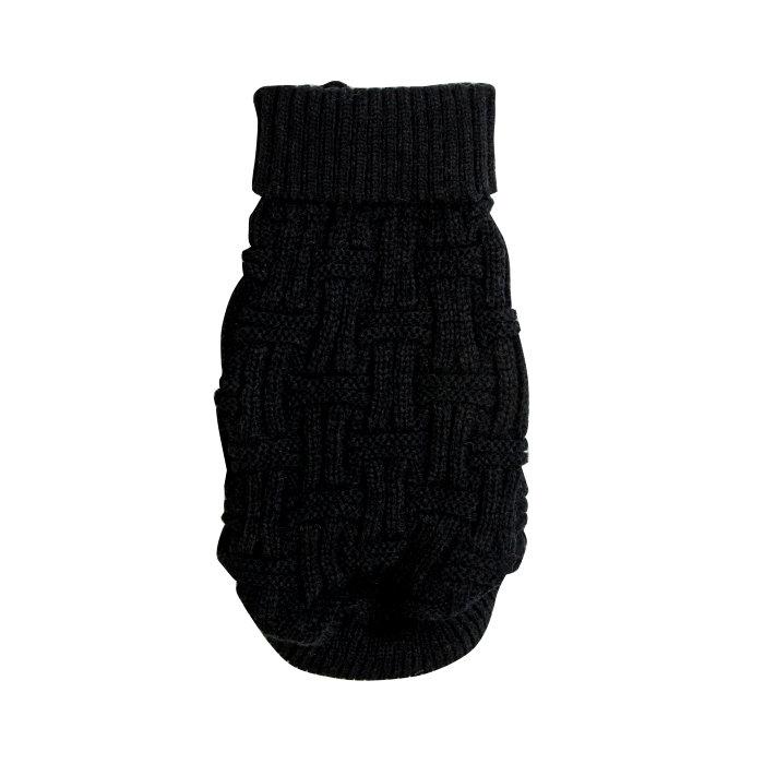 Hundetøj - striktrøje 30 cm sort