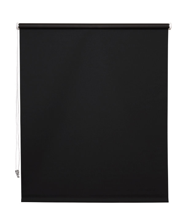Rullegardin sort 90 x 210 cm mørklægning