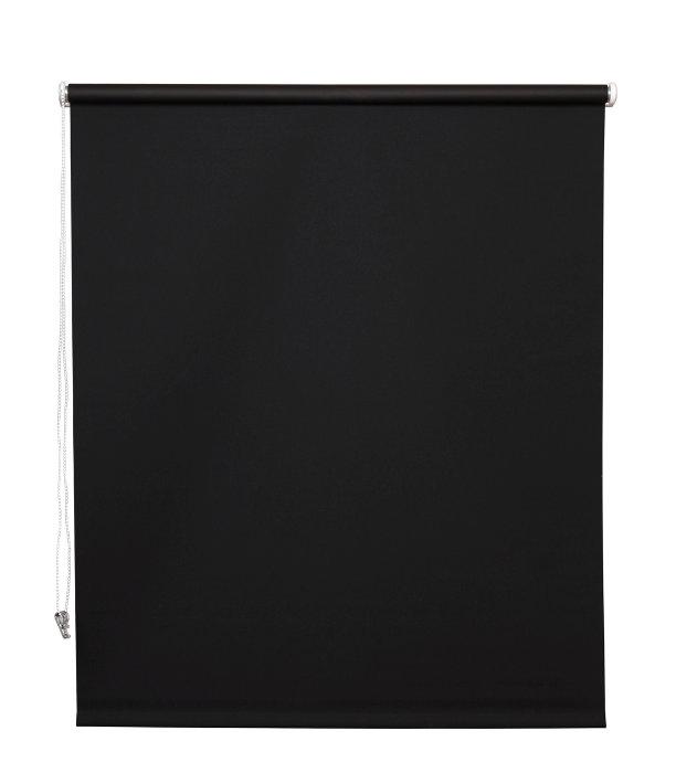 Rullegardin sort 140 x 175 cm mørklægning