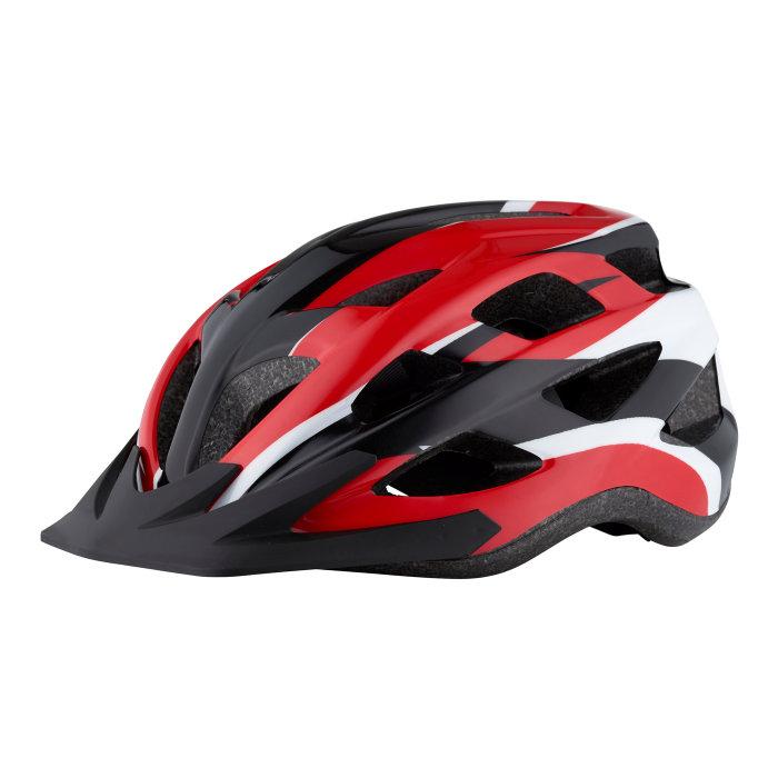 Cykelhjelm Urban rød/hvid/sort str. 54-58 cm