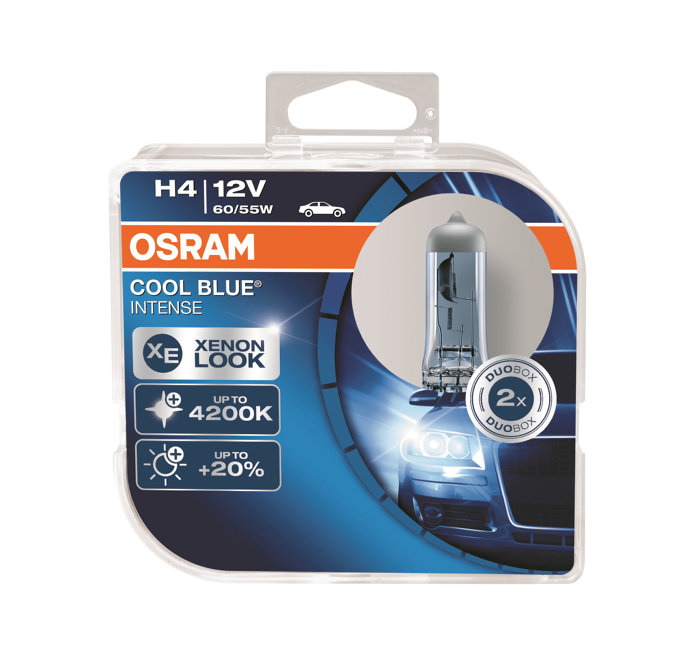 Osram autopære H4 12V 60/55W 2-pk