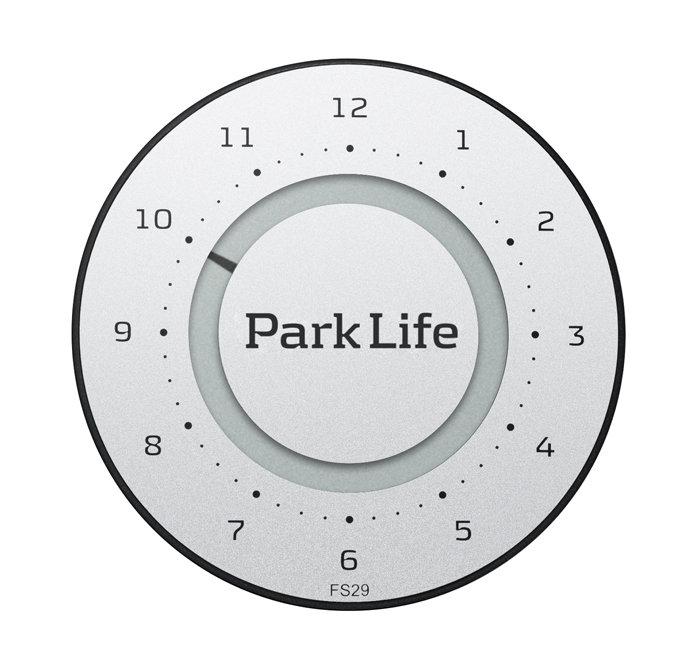 ParkOne 2 parkeringsskive titanium silver