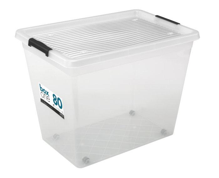 Plastboks med lokk 80 liter - Plast1