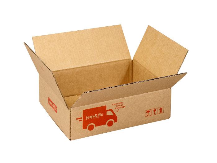 Forsendelseskasse - 4 liter - L26 x B20 x H7 cm