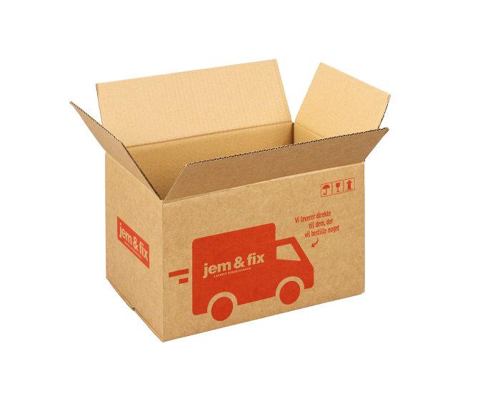 Forsendelseskasse - 9 liter - L28,4 x B18,5 x H16,5 cm