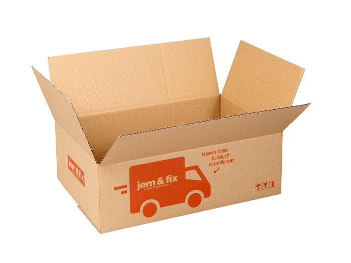 Forsendelseskasse - 21 liter - L45,5 x B30,5 x H15 cm