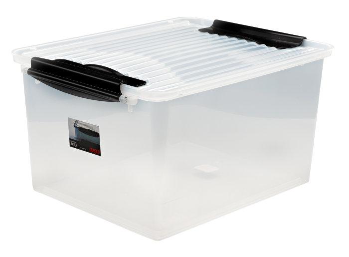 Plastboks med låg – 38L