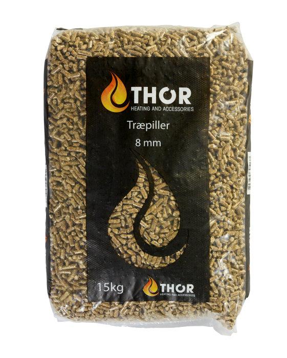 Træpiller 8 mm 15 kg - Thor