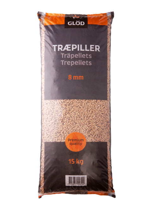 Træpiller 8 mm 15 kg - Glød