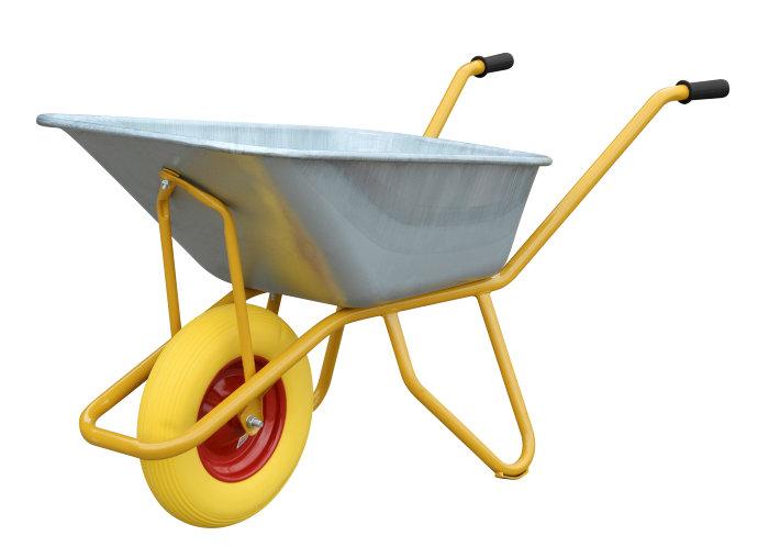 Betonbør 110 liter/150 kg punkterfri hjul - Garden