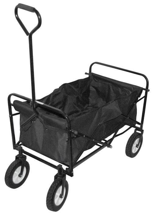Trækvogn foldbar sort maks. 70 kg