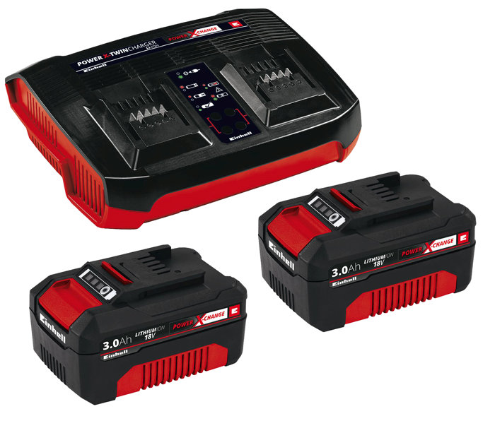 Batteriladdare Twin Charger Einhell