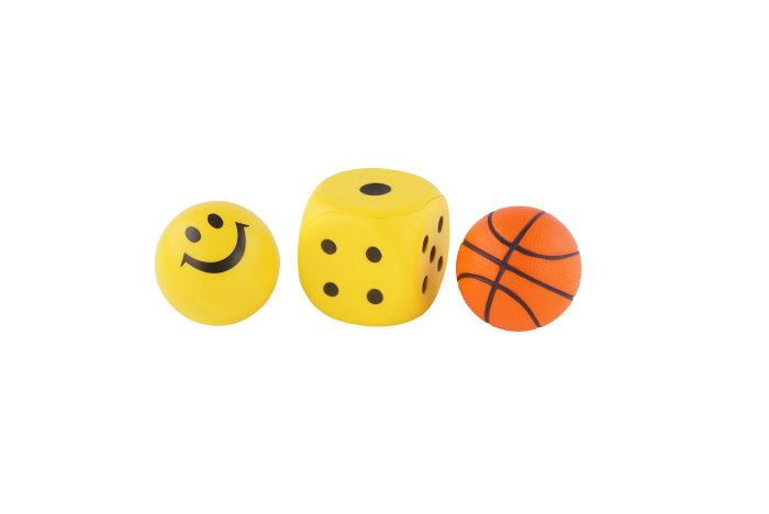 Skumsæt bold/terninger