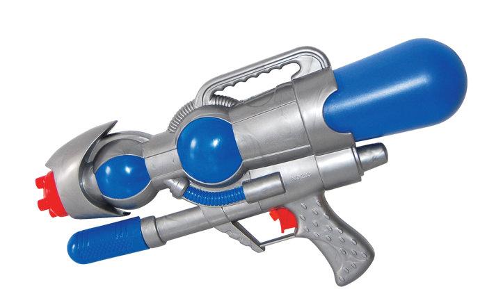 Vannpistol 1 liter grå og blå