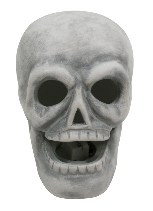 Kranie i keramik med LED-lys