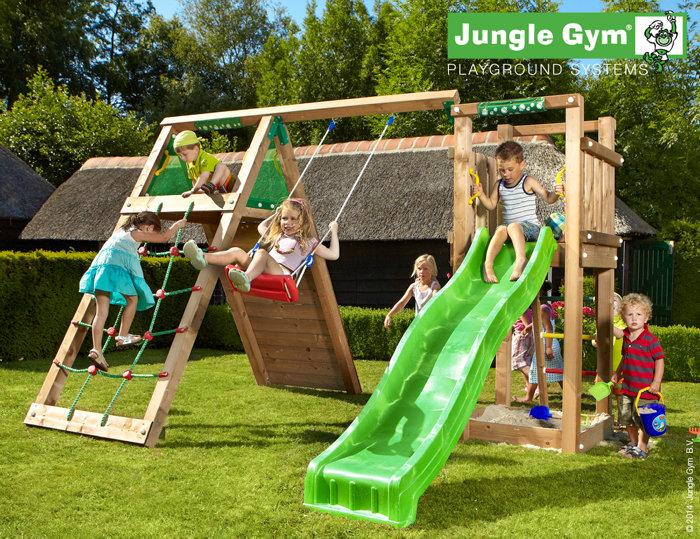 Jungle Gym Tower legetårn med klatremodul