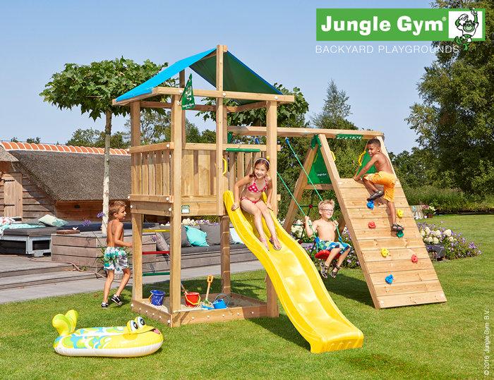 Jungle Gym Hut legetårn med klatremodul