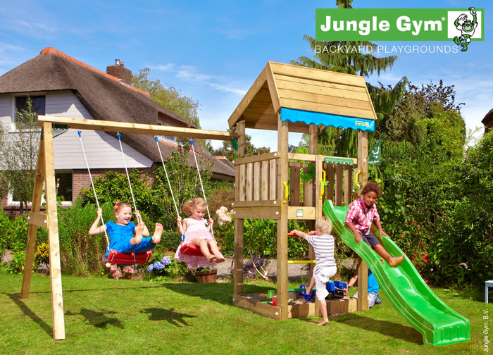 Jungle Gym Home legetårn med gyngemodul