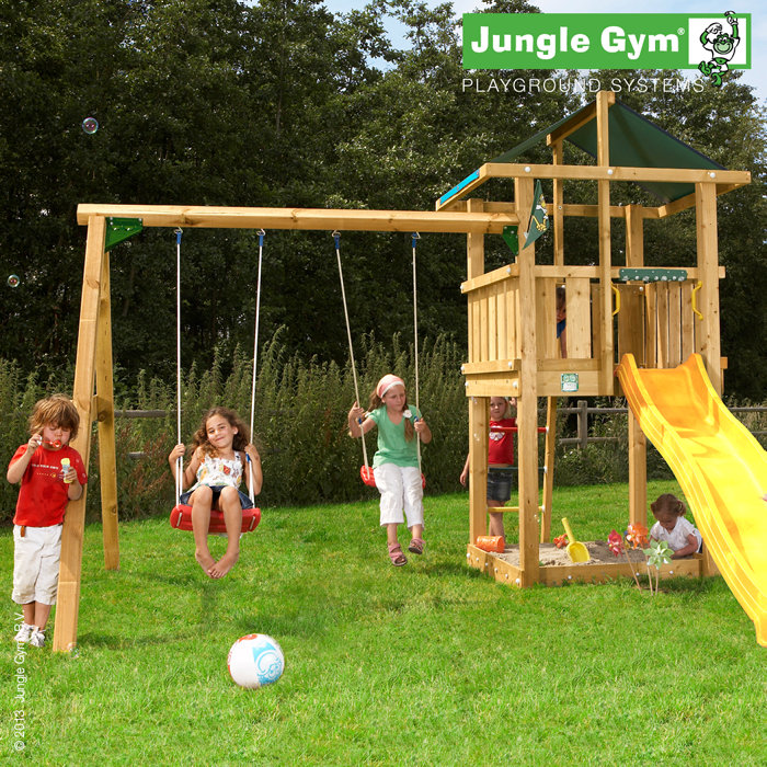Jungle Gym Hut legetårn med gyngemodul
