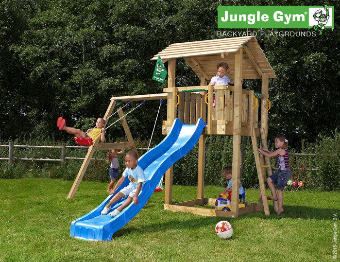 Jungle Gym Shelter legetårn med gyngemodul