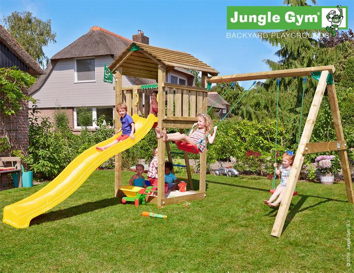 Jungle Gym Cottage legetårn med gyngemodul