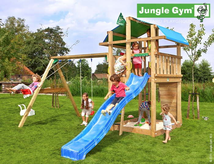 Jungle Gym Fort legetårn med gyngemodul