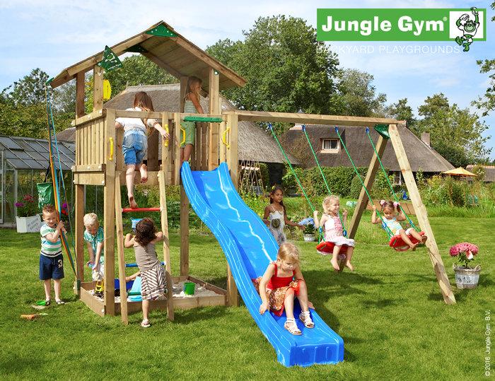 Jungle Gym Chalet legetårn med gyngemodul