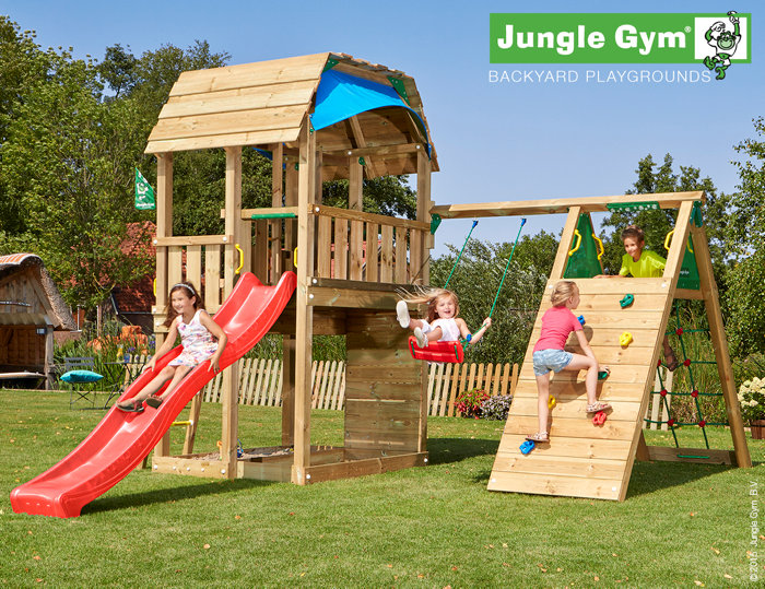 Jungle Gym Barn legetårn med klatremodul